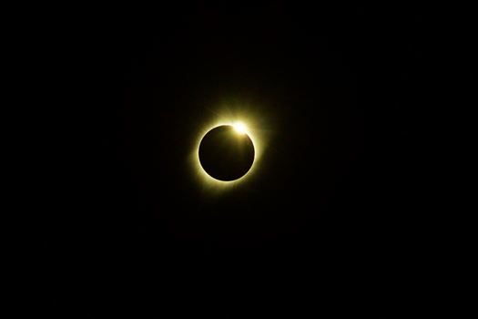 First glimpse of the diamond ring as the totality ends.